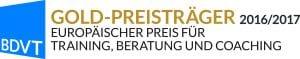 Auszeichung - Europäischer Preis für Training, Beratung und Coaching